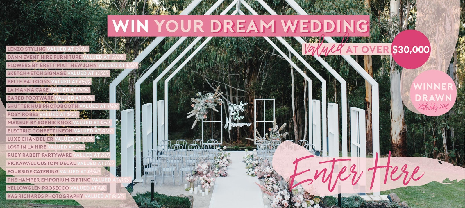 Time to win your DREAM WEDDING with LENZO and other AMAZING suppliers