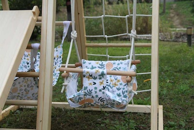 Riababy Toys Riababy Cushioned Baby Swing