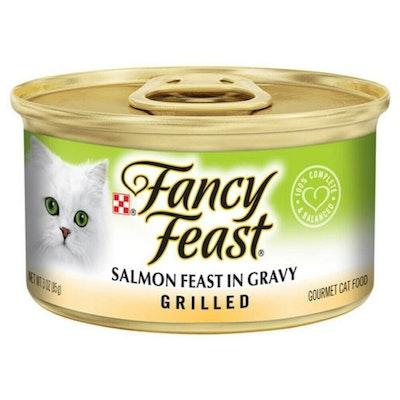 Fancy Feast Wet Cat Food Grilled Salmon Feast in Gravy 24 x 85g