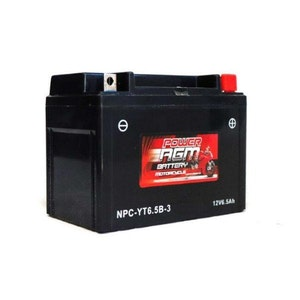 Power AGM 12V 6.5AH 125CCAs Motorcycle Battery