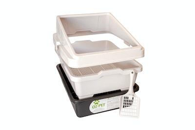 Oz-Pet 2 Piece Sieve Litter Tray + Guard + Scoop