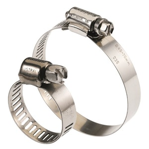 316 Series Full Stainless Steel Hose Clamp Pack 11mm - 22mm 10 Pieces