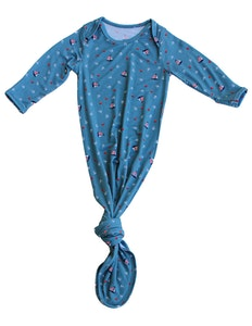 Keep Me Cosy® Bamboo Knotted Gown - Nautical Teal