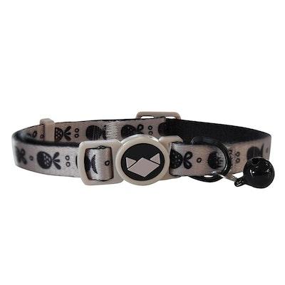 La Doggie Vita Go Fish Taupe/Black Cat Collar