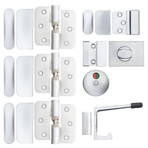Metlam Toilet Partition Set-Right Hand