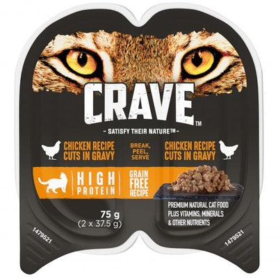 CRAVE Perfect Portions Chicken Gravy Wet Cat Food 75G