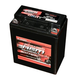 Power AGM 12V 12AH 200 CCAs Motorcycle Battery Positive on Right