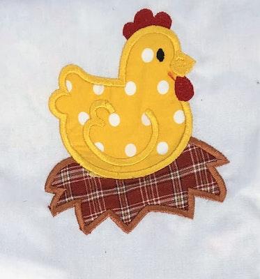 Two Olde Crows Kitchen Towel Scarf Wear 'n' Wipe Chicken