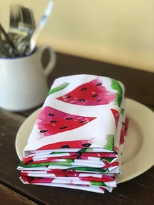 White Watermelon Napkins