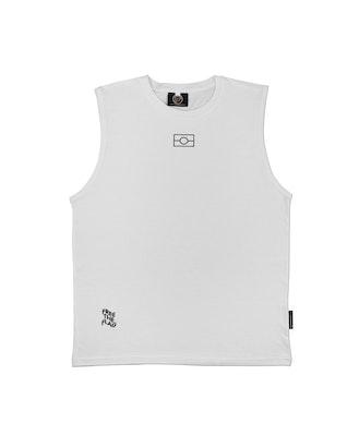 Clothing The Gaps       White Empty Flag Tank