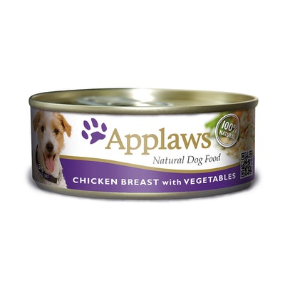 Applaws Wet Dog Food Chicken Breast w/ Vegetables Tin 16 x 156g