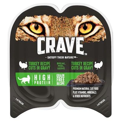 CRAVE Perfect Portions Turkey Gravy Wet Cat Food 75G