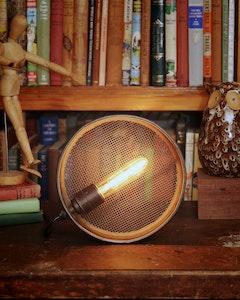 Industrial Brass Sieve Lamp
