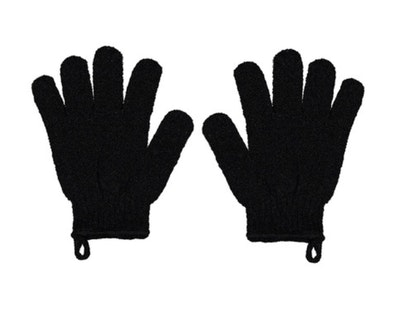 SOUL Self Care  Exfoliating and Cleansing Gloves in Black 2021