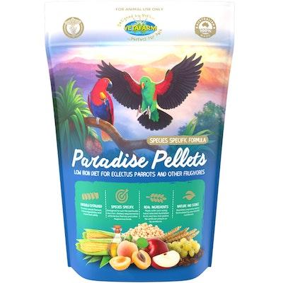 Vetafarm Paradise Pellets for Breeding Eclectus Parrots Bird Food - 2 Sizes