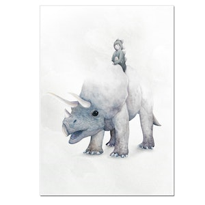Triceratops Print - A3