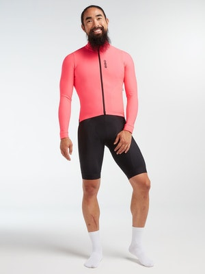 Black Sheep Cycling Men's Elements LS Thermal Jersey - Neon Pink