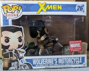 MCC Marvel Collector Corps Exclusive Funko Pop Rides X-Men Wolverine's Motorcycle Pop Vinyl