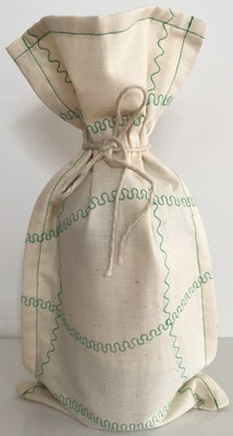by G  by JoVe Earth Friendly Fabric Gift Wrap Bag - Wine Surprise green
