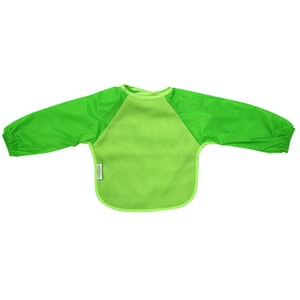 Silly Billyz Small Long Sleeve Lime Fleece Bib