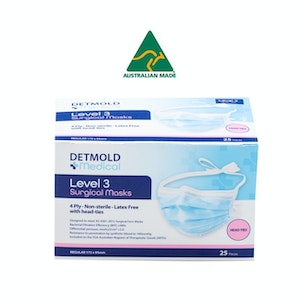 Australian Made Level 3 Surgical Mask Head Ties - box of 25