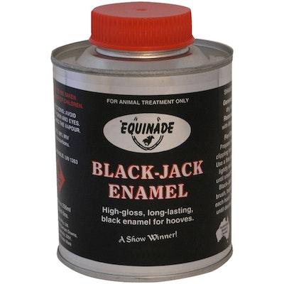 Equinade Black Jack Gloss Show Enamel Waterproof Horse Hoof Paint - 2 Sizes