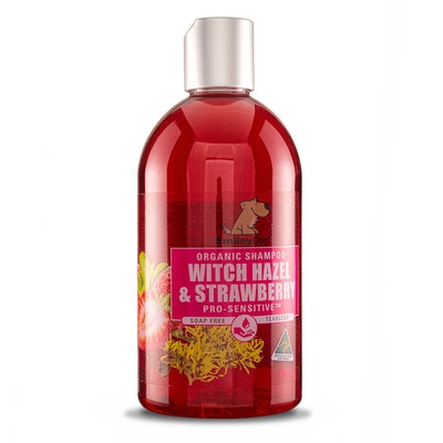 Smiley Dog Organic Extract Witch Hazel & Strawberry Shampoo