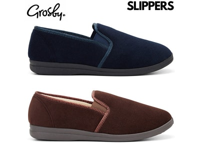 Boutique Medical GROSBY Percy Mens Slippers Shoes Indoor Outdoor Casual Slipper Moccasins