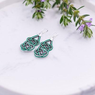 Tomi Art Geiko Earrings - Silver Green