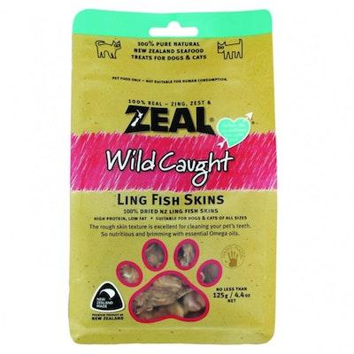Zeal Free Range Naturals Ling Fish Skins Dog Cat Treat 125g