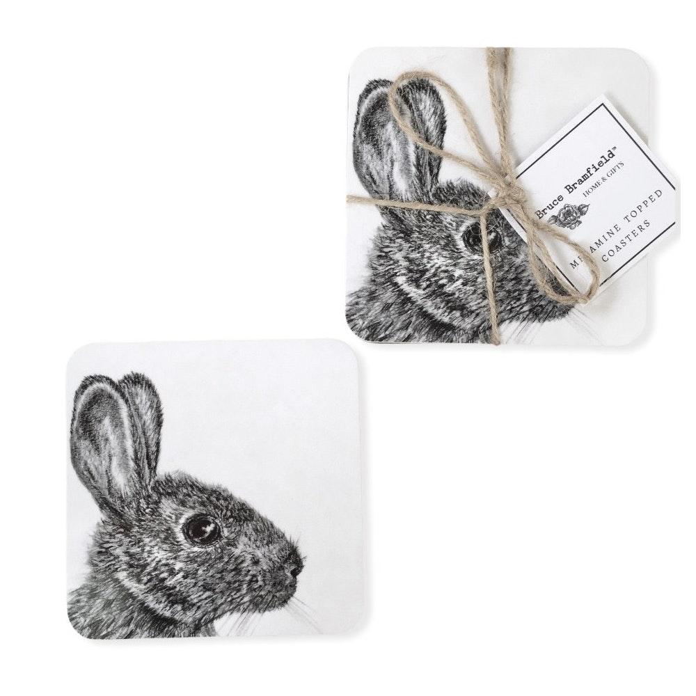 Bruce Bramfield Wild Rabbit Set Of Two Coasters
