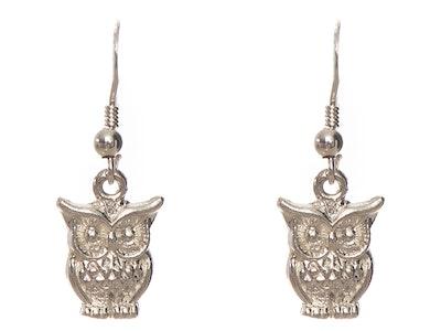Juzii Sterling Silver Owl Earrings