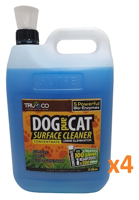 Trueeco Carton of x4 5 Liter Concentrate DOG AND CAT SURFACE CLEANER