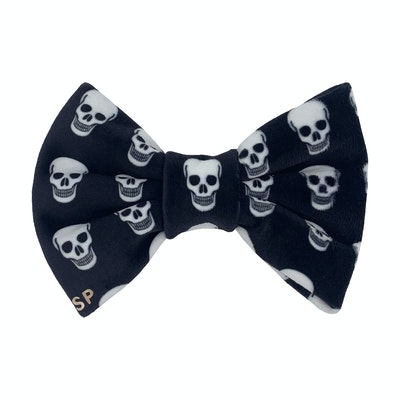 Swanky Paws Skull Bow Tie