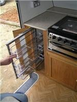 Kitchen-hands love this roll-out strorage rack E541