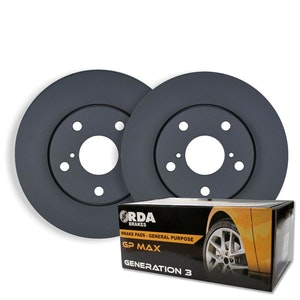 FRONT DISC BRAKE ROTORS + PADS for Mazda CX-8 KG 2.2TTD 140Kw Sport 6/2018 on