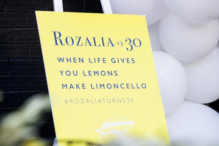 Rozalia Russian 30th Birthday - Sign