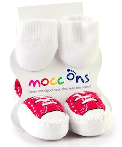 Sock Ons MOCC ONS Red Sneaker 12-18