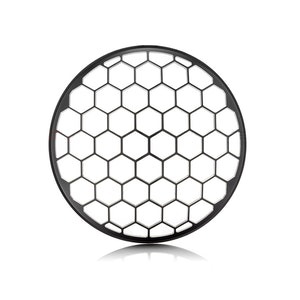 """7"""" Metal Honeycomb Design Grill - Black Contrast Cut"""