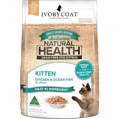 IVORY COAT Grain Free Kitten Chicken & Ocean Fish Wet Cat Food 85G