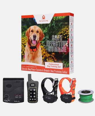 Pet Control HQ Combo Electric Dog Fence & 2 Remote Training Collar
