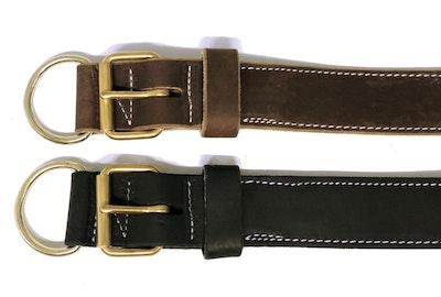 "K9 PRO 2"" Tactical Single Leather Collar - Premium Leather"