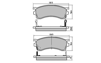 RDA GP MAX FULL SET FRONT & REAR BRAKE PADS for MAZDA 626 GF 1997-2002