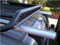 Rola Vortex Luggage Tray centered at 935mm on roof rack bars.