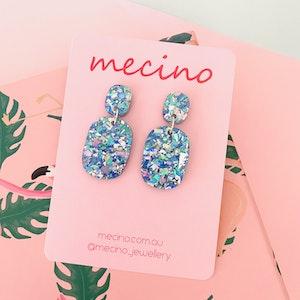 Eleonor Drops - Sky Blue Acrylic Earrings