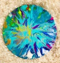 Colour Splash- Original Canvas Acrylic Paint Pour Artwork