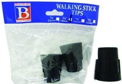 """Bemed Walking Stick Tips Black 3/4"""" 19mm"""