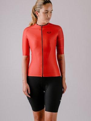 Taba Fashion Sportswear Camiseta Ciclismo Mujer Rubí
