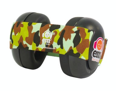 Ems for Kids BABY Earmuffs - ARMY CAMO on Black