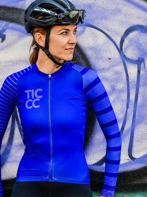 TIC CC À bloc long sleeve jersey – Indigo blue